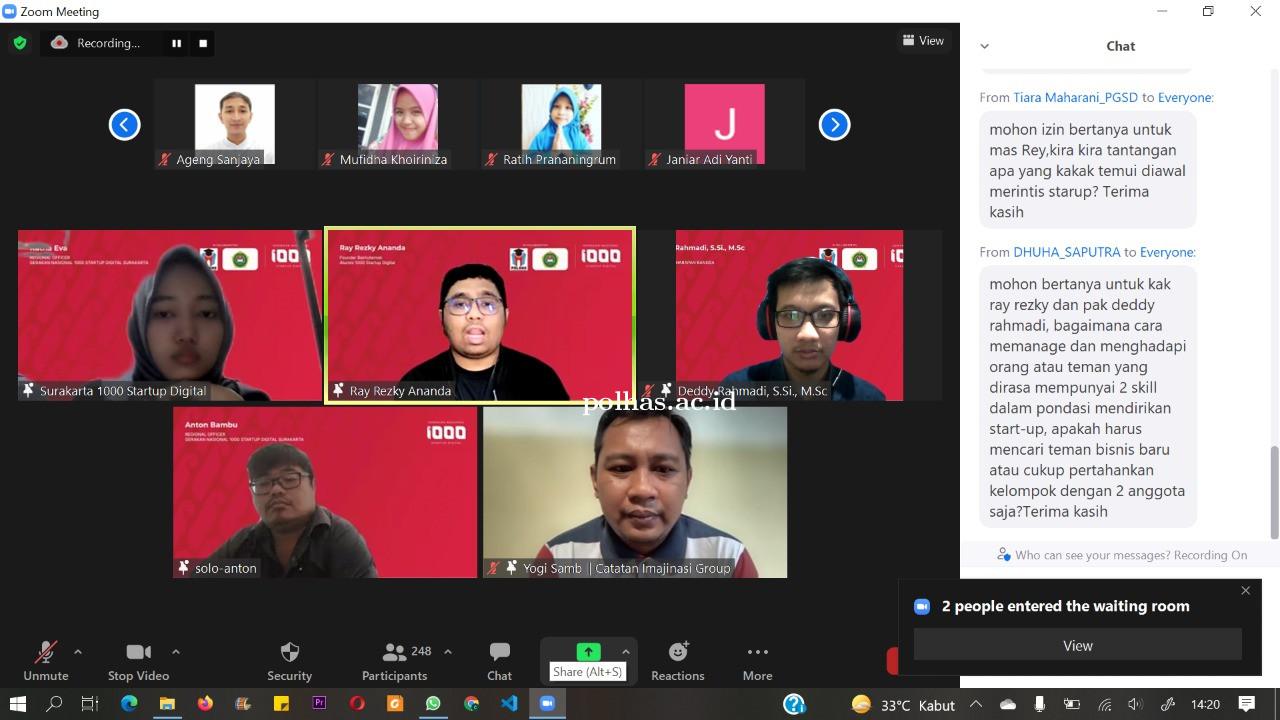 Kegiatan Bersama Gerakan Nasional 1000 Startup Digital