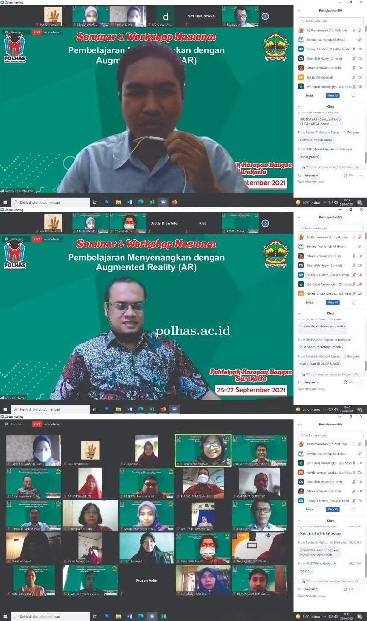 Kegiatan Seminar Nasional dan Workshop AR (Augmented Reality)