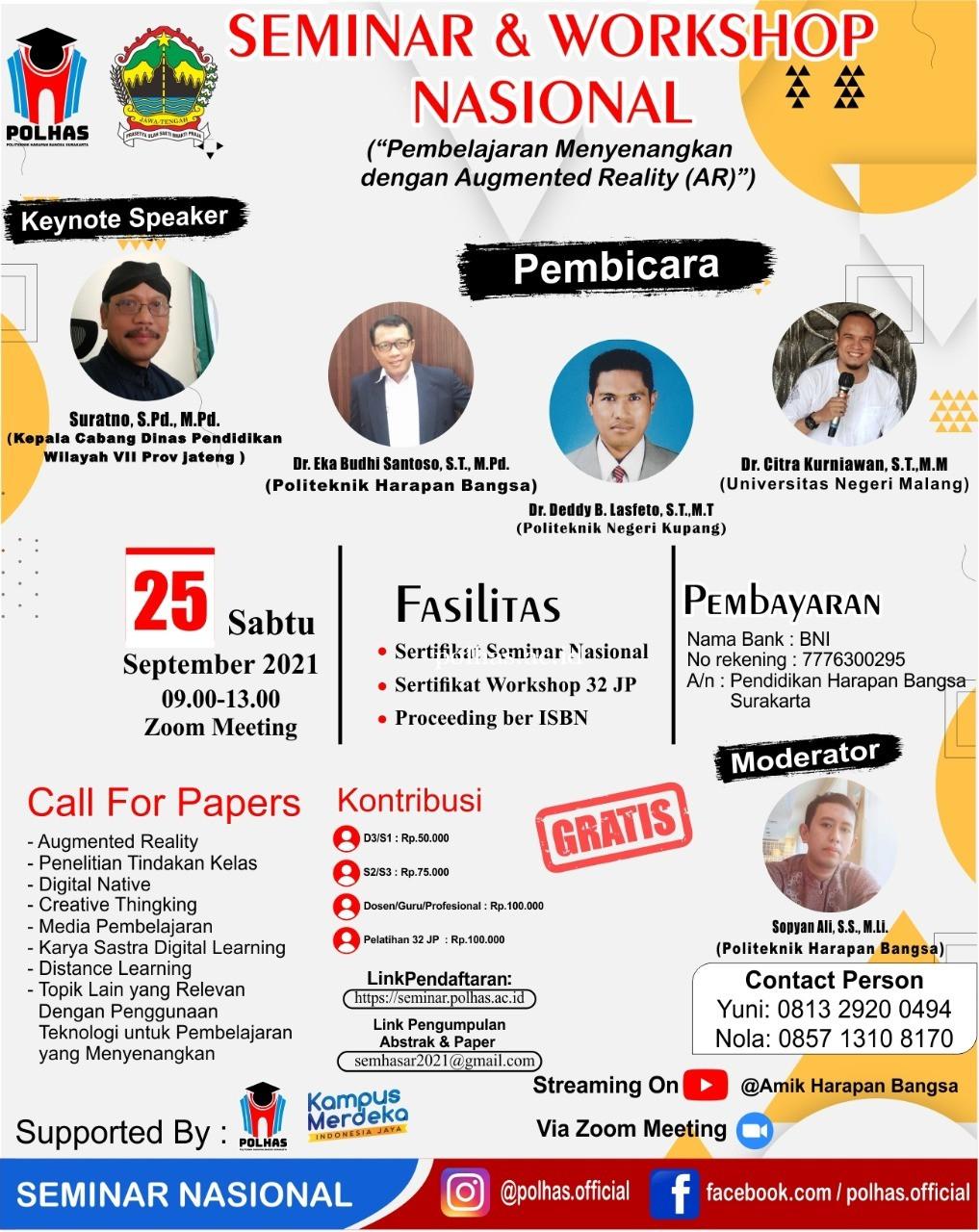 Seminar Nasional Politeknik Harapan Bangsa Surakarta